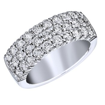 3-Row Diamond Pave Ring - 1.75CTTW