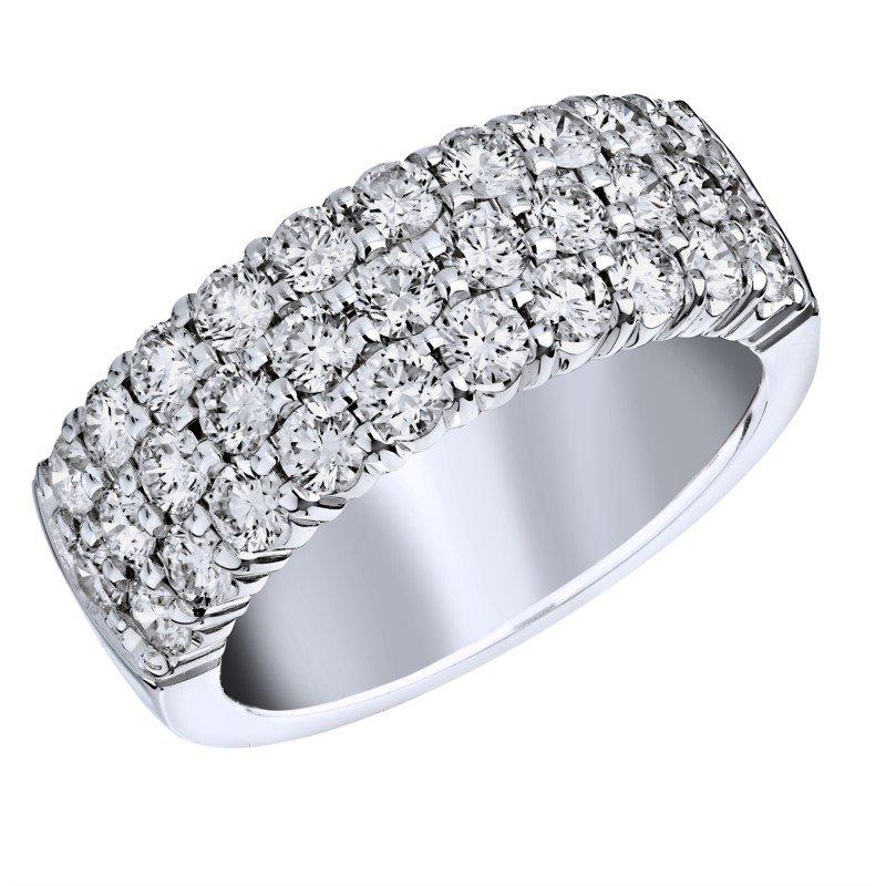 Lasker Bridal 3-Row Diamond Pave Ring - 1.75CTTW