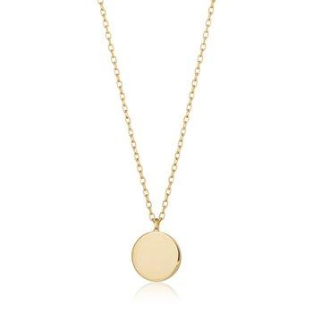 Dot Shiny Disc Necklace