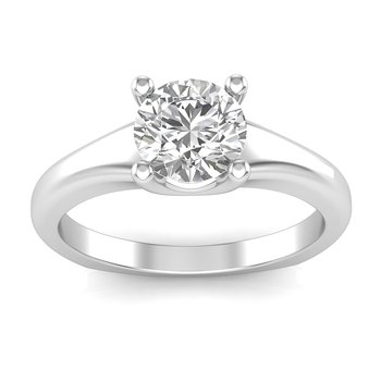 Graduated Solitaire Ring For Oval Center