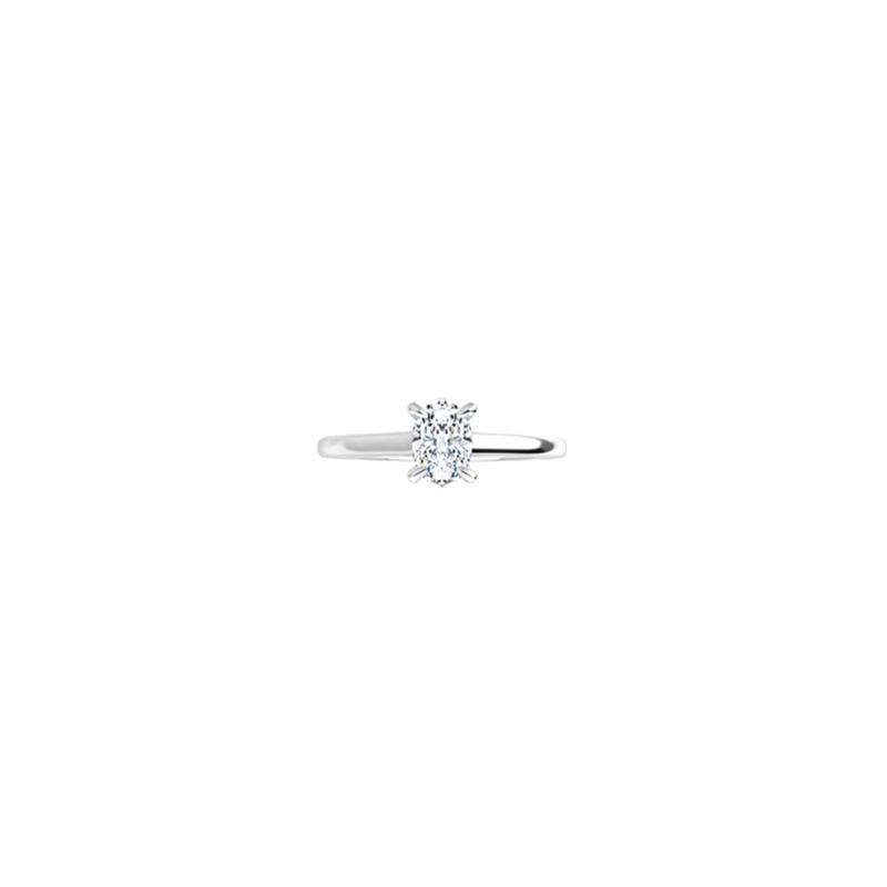 Lasker Bridal .70ct Oval Petite Solitaire Ring