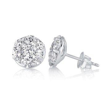Fire & Ice Aquarius Earrings - 1/2cttw