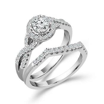 Lasker Value!!  Infinity Twist Halo Engagement Set