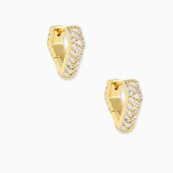 Demi Huggie Earrings In Yellow