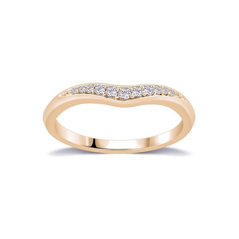 Lasker Bridal Bead Set Curved Band