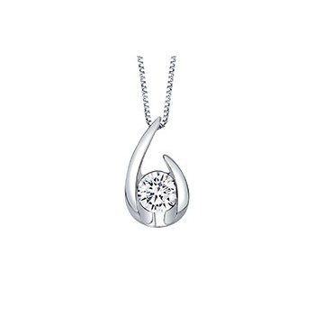 Open Teardrop Diamond Pendant