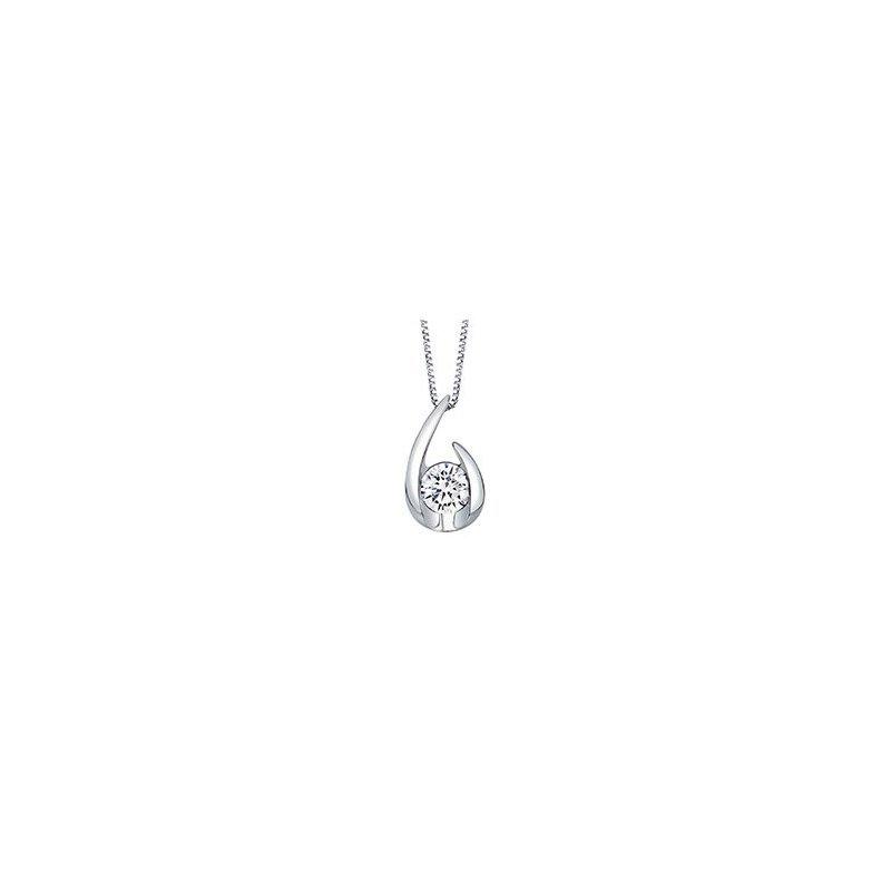 Lasker Diamond Fashion Open Teardrop Diamond Pendant