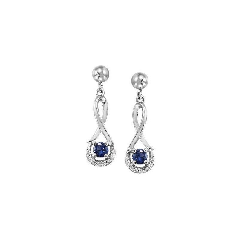 Lasker Gemstone Blue Sapphire Earrings