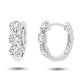 Center Of my World Diamond Hoop Earrings