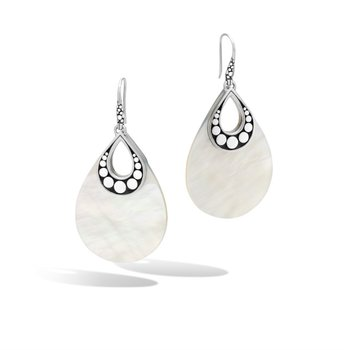 Dot Earrings with Mother of Pearl