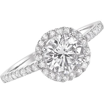 Classic Round Halo Ring - 1cttw
