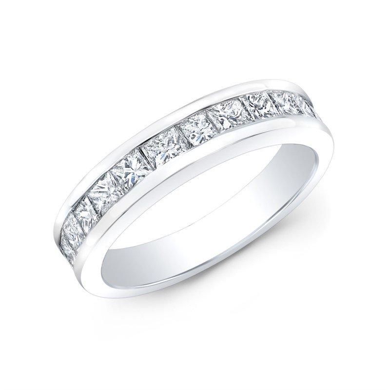 Lasker Bridal Channel Set Band with Princess Diamonds