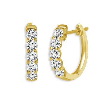 Classic Diamond Hoop Earrings - 1cttw