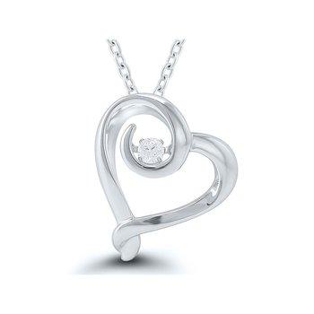 Rhythm Of Love Diamond Heart Pendant