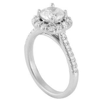 Halo Engagement Ring Mounting