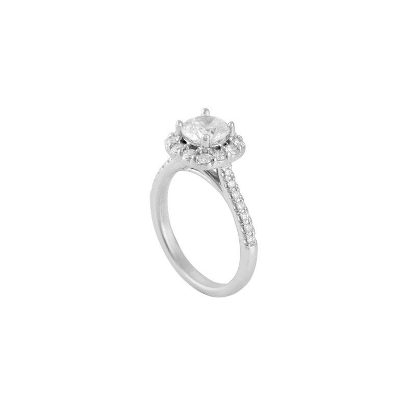 Lasker Bridal Halo Engagement Ring Mounting