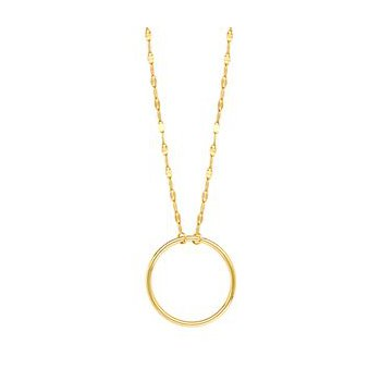 Gold Circle on Piatto Chain