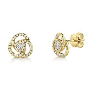 Diamond Spiral Stud Earrings