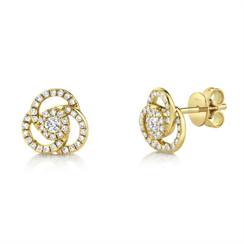 Lasker Diamond Fashion Diamond Spiral Stud Earrings