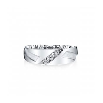 7.5mm Band with .25tw Diamonds