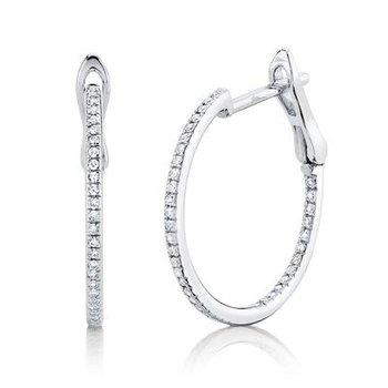 20mm Diamond Hoop Earrings