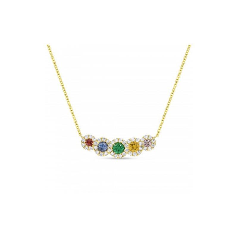 Lasker Gemstone Rainbow Sapphire Necklace