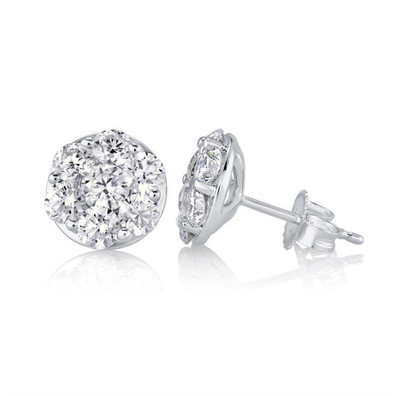 Fire & Ice Diamonds Fire & Ice Aquarius Earrings- 1/4ct