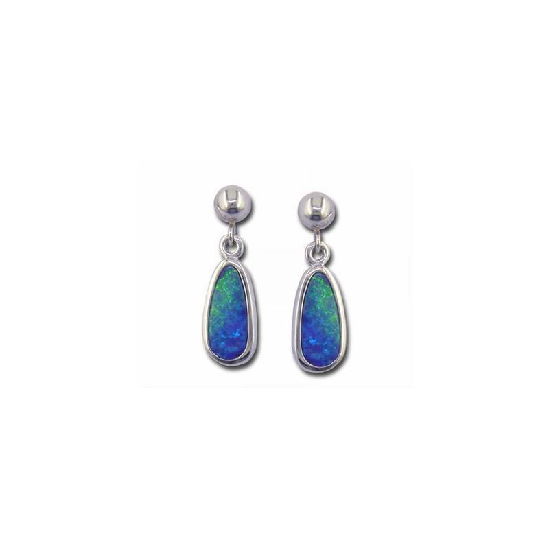 Lasker Gemstone Opal Doublet Dangle Earrings