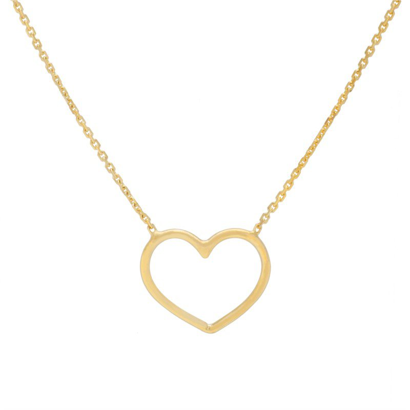 Lasker Gold Fashion Open Heart Pendant
