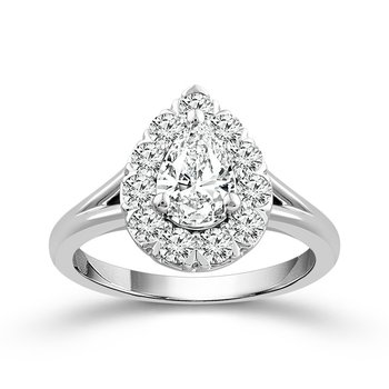Pear Shaped Halo Solitaire