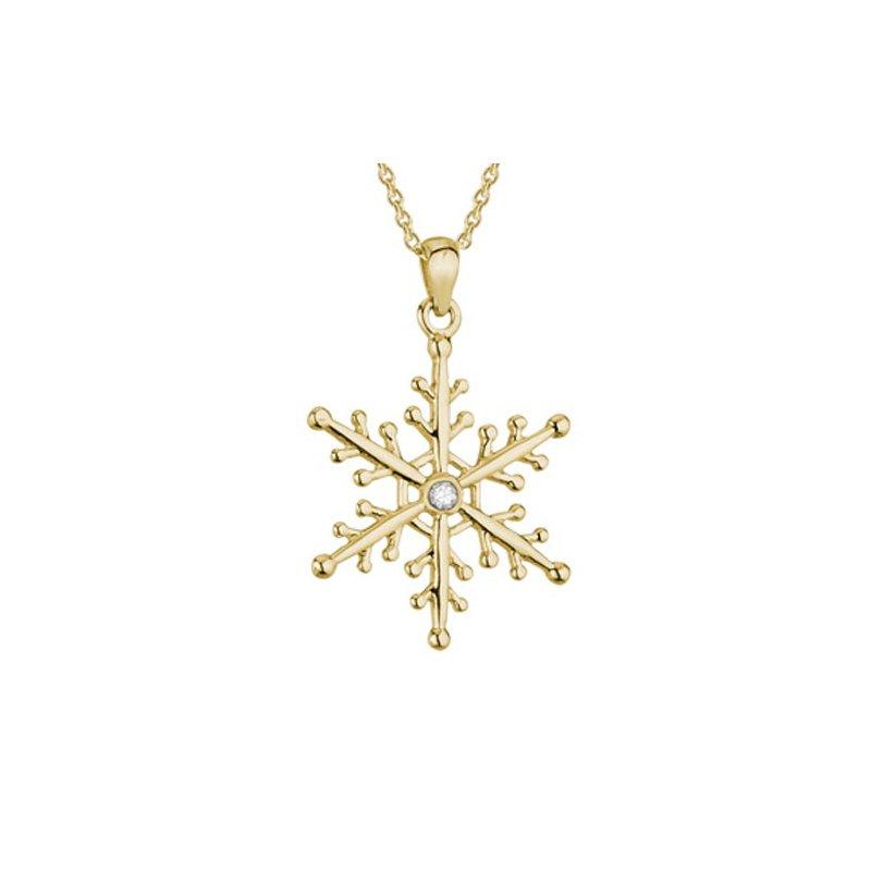 Lasker Gold Fashion Snowflake Pendant