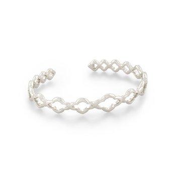 Kendra Scott Abbie Cuff Bracelet Rhodium Metal