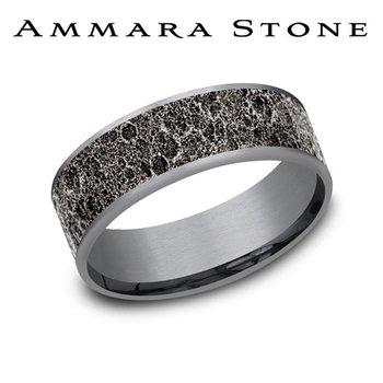 Amara Stone - Grey Tantalum & 14KT White Gold