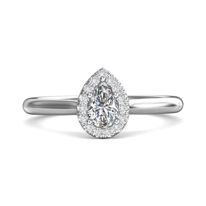Forevermark Petite Pear Halo Ring