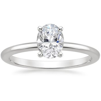 1.01ct Oval Trellis Solitaire Ring