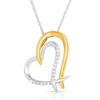 Full Heart Diamond Pendant