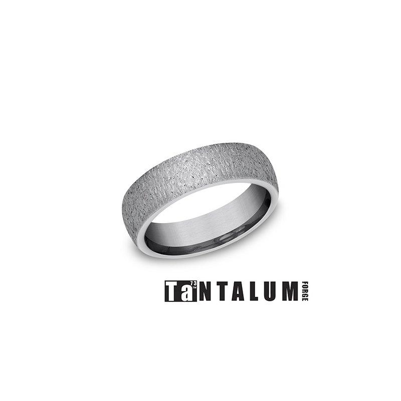 Lasker Men's 6mm Tantalum Band - Stone Finish