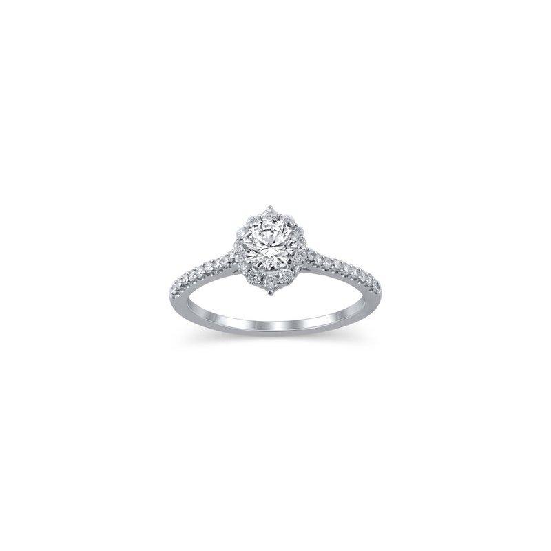 Lasker Bridal Tiara Halo Engagement Ring - 1/2CT