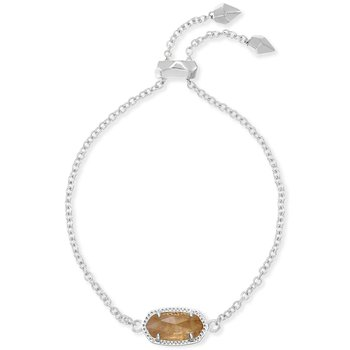 Elaina Adjustable Chain Bracelet In Citrine