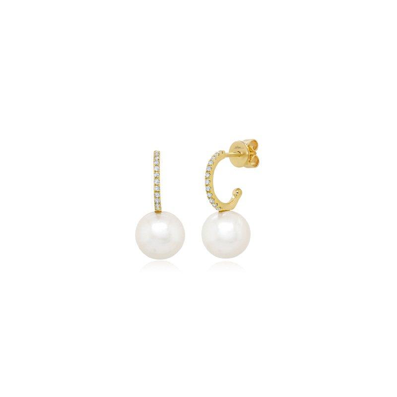 Lasker Pearl Fashion Freshwater Pearl & Diamond Earrings