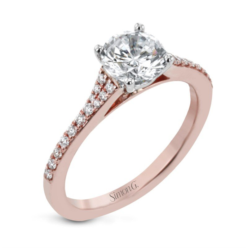 Simon G Delicate Classic Prong Ring Mounting