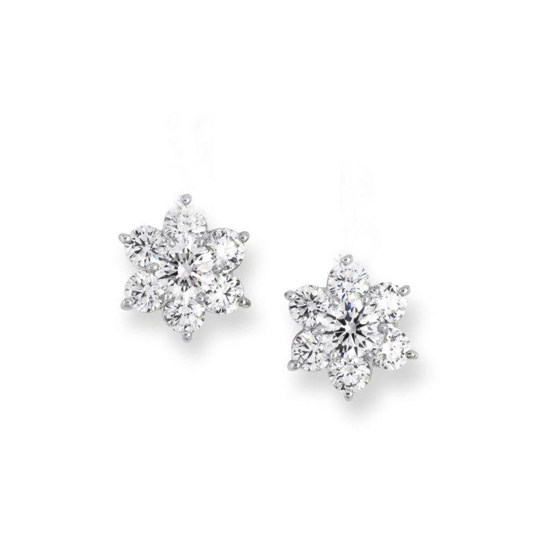 Suna Diamond Cluster Earrings