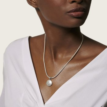 Hammered Reversible Pendant Necklace