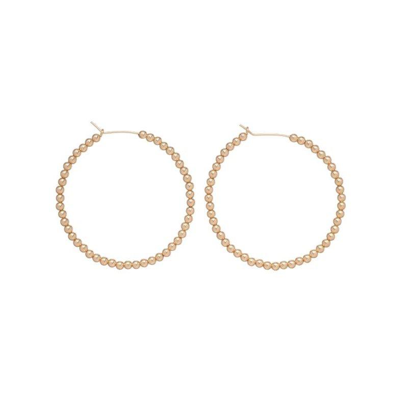 """enewton Gold Filled 1.75"""" 3mm Beaded Hoop"""