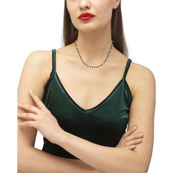 Jenna Gold Choker Necklace In Black Obsidian