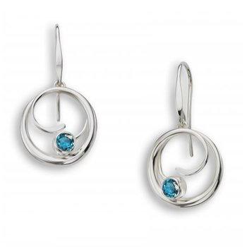 Petite Bindu Earrings - Blue Topaz