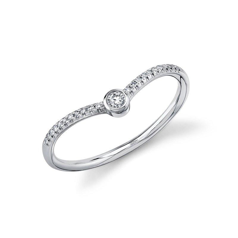 Lasker Diamond Fashion Chevron Ring