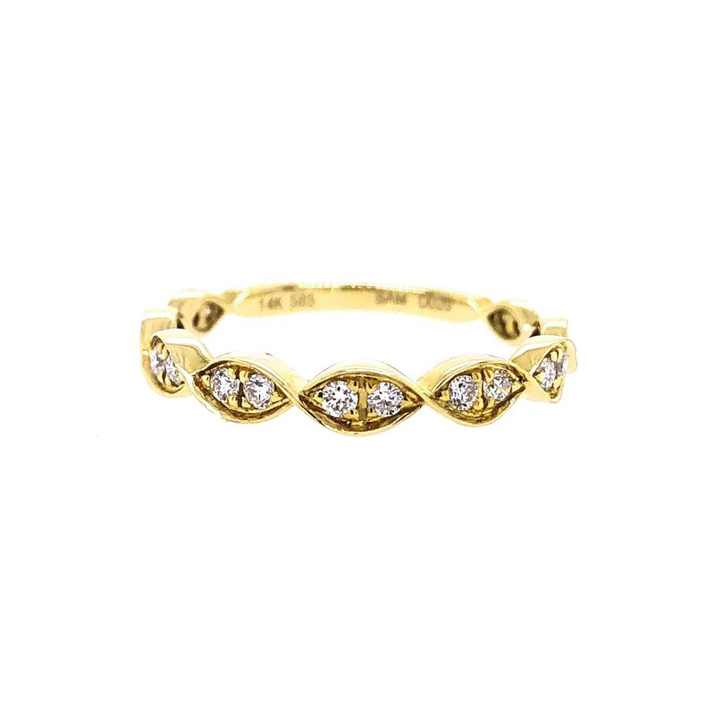Lasker Bridal Scalloped Stacking Ring