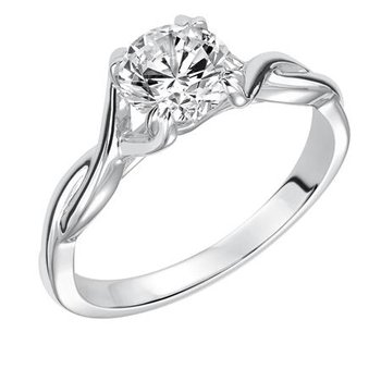Solitaire Diamond Twist Engagement Ring