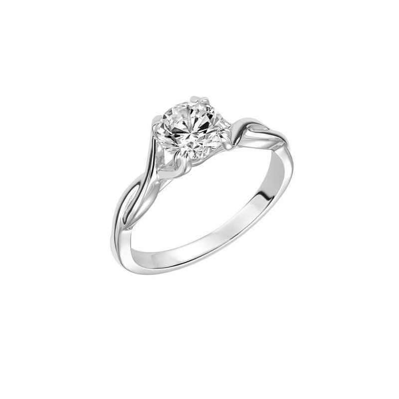 Lasker Bridal Solitaire Diamond Twist Engagement Ring